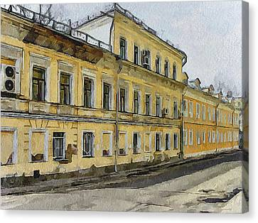 Moscow Old Streets 24 Canvas Print by Yury Malkov