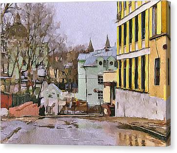 Moscow Old Streets 30 Canvas Print by Yury Malkov