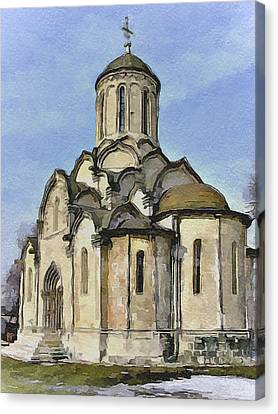 Moscow Old Streets 32 Canvas Print by Yury Malkov
