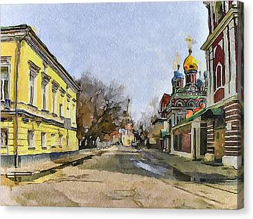 Moscow Old Streets 8 Canvas Print by Yury Malkov