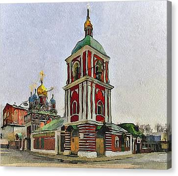 Moscow Old Streets 9 Canvas Print by Yury Malkov