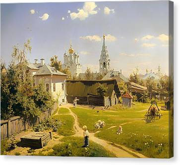 Moscow Patio Canvas Print by Mountain Dreams