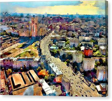 Moscow Scape 2 Canvas Print by Yury Malkov