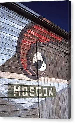 Moscow Storage Barn Canvas Print by Latah Trail Foundation