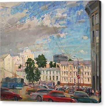 Moscow Summer 09 Canvas Print by Juliya Zhukova