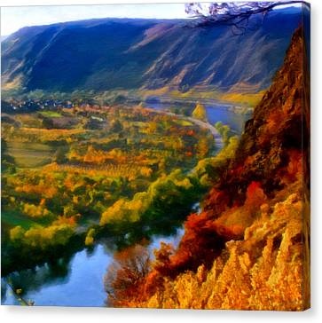 Mosel In The Fall Canvas Print by Michael Pickett