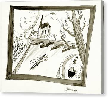 January Canvas Print - Mosel River In Germany by Ludwig Bemelmans