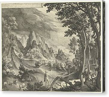 Moses Is Addressed By God On Mount Horeb Canvas Print by Nicolaes De Bruyn