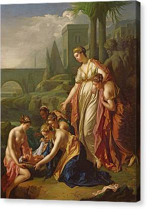 Moses Saved From The Water Canvas Print by Adriaan van der Werff