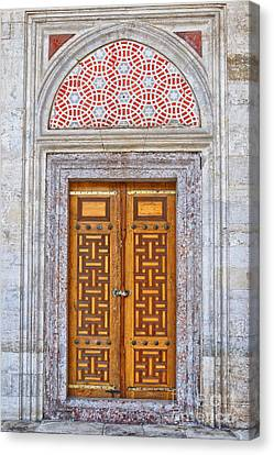 Mosque Doors 04 Canvas Print by Antony McAulay