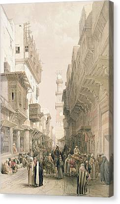 Mosque El Mooristan Canvas Print by David Roberts