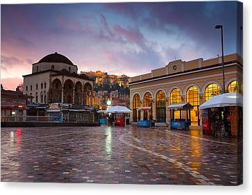 Mosque In Monastiraki Square Canvas Print