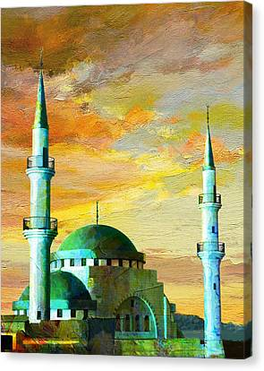 Mosque Jordan Canvas Print by Catf