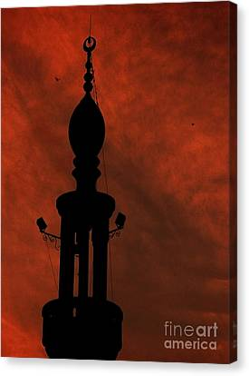 Canvas Print featuring the photograph Mosque by Mohamed Elkhamisy