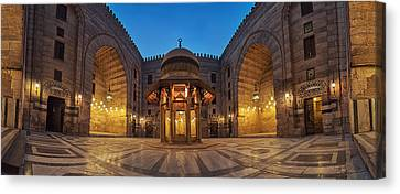 Egypt Canvas Print - Mosque Night Panorama by Mahmoud Hafez