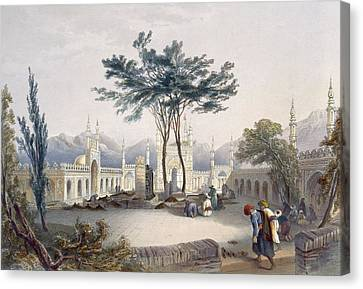 Mosque Of Goolaum Hoossein Huzrut-jee Canvas Print by James Rattray