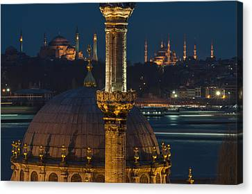 Mosques In Istanbul Canvas Print by Ayhan Altun