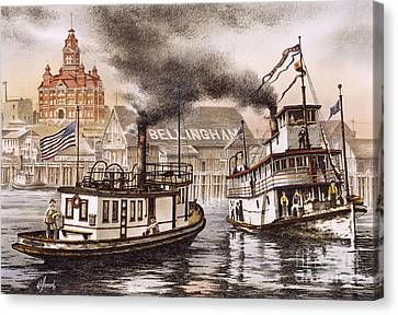 Mosquito Fleet Steamboats Canvas Print by James Williamson