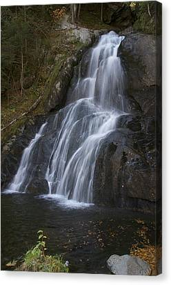 Canvas Print featuring the photograph Moss Glen Falls #1 by Paul Miller
