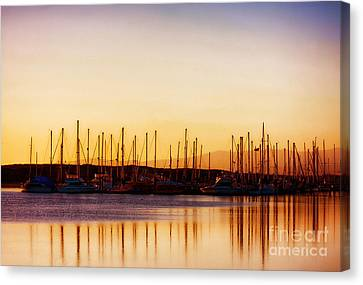 Moss Landing Sunset Canvas Print
