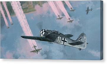 P-51 Mustang Canvas Print - Most Dangerous Game by Wade Meyers