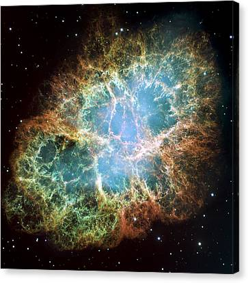 Most Detailed Image Of The Crab Nebula Canvas Print by Adam Romanowicz
