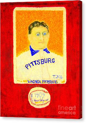 Most Expensive Baseball Card Honus Wagner T206 2 Canvas Print by Richard W Linford