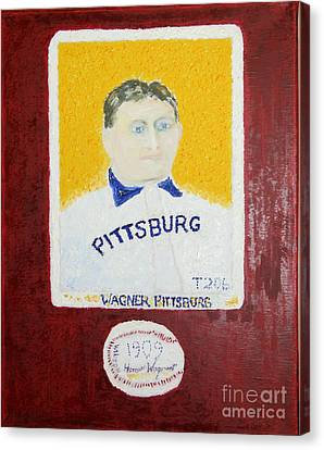 Most Expensive Card T206 Honus Wagner And Signed Baseball Canvas Print