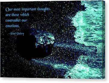 Most Important Thoughts Canvas Print by Mike Flynn