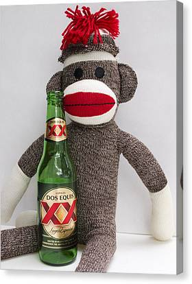 Most Interesting Sock Monkey In The World Canvas Print by William Patrick