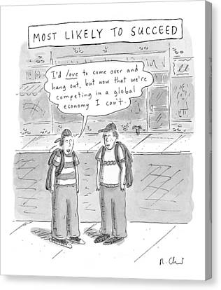 Most Likely To Succeed Canvas Print by Roz Chast