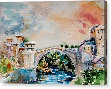 Mostar Bridge Canvas Print