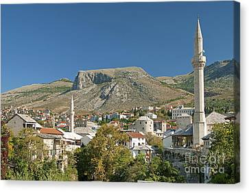 Mostar In Bosnia Herzegovina Canvas Print