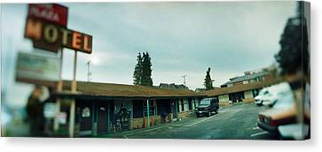 Motel At The Roadside, Aurora Avenue Canvas Print by Panoramic Images