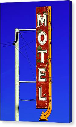 Canvas Print featuring the photograph Motel Sign On Route 66 by Daniel Woodrum