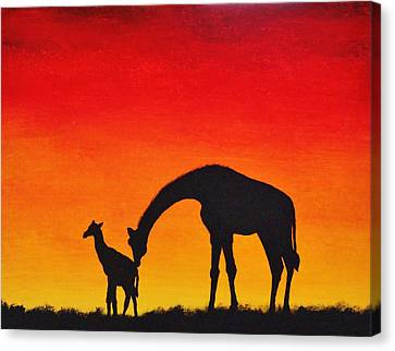 Canvas Print featuring the painting Mother Africa 2 by Michael Cross