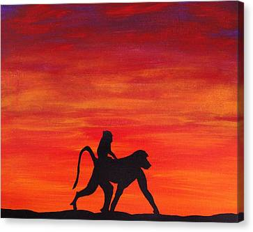 Canvas Print featuring the painting Mother Africa 4 by Michael Cross