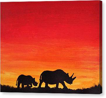 Canvas Print featuring the painting Mother Africa 5 by Michael Cross