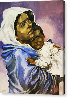 Mother And Child Canvas Print by Al Brown
