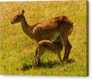 Mother And Child Canvas Print by Angela Stanton