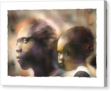 Mother And Child Canvas Print by Bob Salo