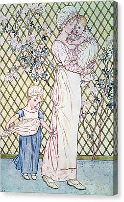 Mother And Child Canvas Print by Kate Greenaway