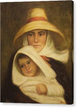 Mother And Child Canvas Print by    Michaelalonzo   Kominsky