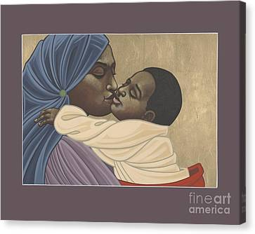 Canvas Print featuring the painting Mother And Child Of Kibeho 131 by William Hart McNichols