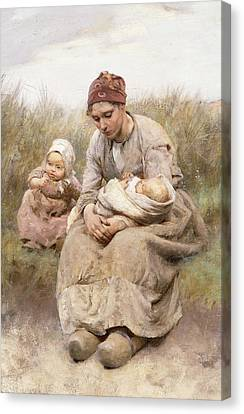Mother And Child Canvas Print by Robert McGregor
