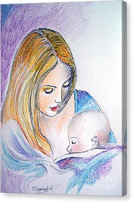 Mother And Child Canvas Print by Roberto Gagliardi