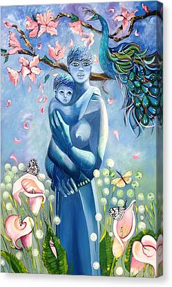 Mother And Child Canvas Print by Susan Robinson