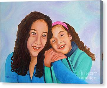 Mother And Daughter Canvas Print by Pauline Ross