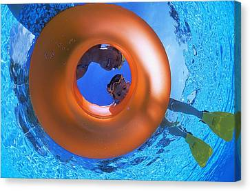 Mother And Daughter Snorkeling Canvas Print by Carson Ganci