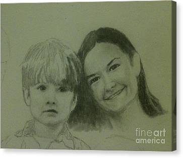 Mother And Son Canvas Print by Frankie Thorpe